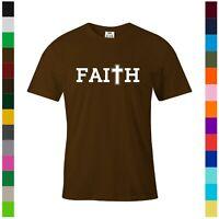 FAITH CHRISTIAN PRINT T SHIRT JESUS CHRIST GRAPHIC SHIRTS GOD DESIGN TEE GIFT