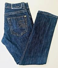 Mek Dnm Blue Jeans Men Size 31x32   Washington Slim Straight Button Fly