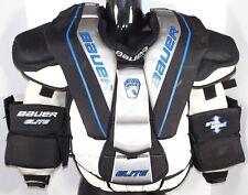 Bauer Elite Intermediate Medium Goalie Chest & Arm Pad Protector Ice Hockey Used