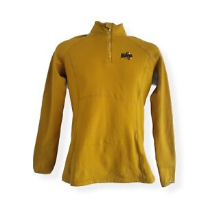 Maloja ZulaM Women's mustard quarter zip shirt size L Mountains Outdoor Cycling