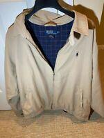Polo by Ralph Lauren Harrington Jacket Beige Tan Plaid Vintage Lining Jacket 2XL