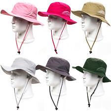 Bush Hat Wide Brim Reversible Bucket Mens Ladies Surf Camo Sun Summer Fishing