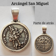 MEDALLA COLGANTE ARCANGEL SAN MIGUEL SILVER PLATA ARCHANGEL SAN MIGUEL