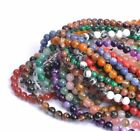 NATURAL GEMSTONE Round Charms Loose Spacer BEADS 4MM 6MM 8MM 10MM 12MM Wholesale