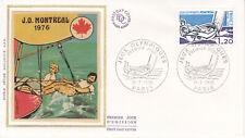 Enveloppe 1er jour FDC Soie 1976 Jeux Olympiques de Montréal