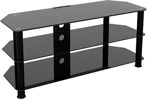 """AVF SDC1140CMBB-A Media Component TV Stand with Cable Management for up to 55"""" T"""
