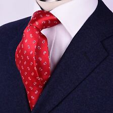 """Red Hot Paisley Wide Tie 3.5""""  Luxury Woven Long Sexy Designer Business Fashion"""