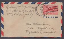 **US Airmail APO Cover, APO# 575 (Germany), 5/28/1945 To MD, CV $30.00