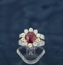 White Gold Ruby 18Carat Ring Vintage Fine Jewellery