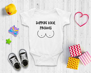 Support Local Produce Baby Bodysuit   Baby Shower Gift   Cute Baby Clothes