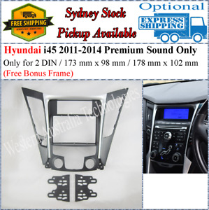 Fascia facia Fits Hyundai i45 i-45 2010-2014 Two 2 DIN Premium Sound Only