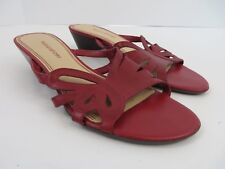 Naturalizer Womens Slip On Sandals Red Leather Size 7M  #638