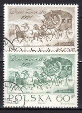 Poland - 1964 Stamp day / Coach - Mi. 1530-31 VFU
