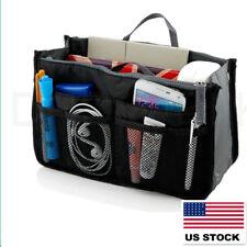 US HOT BlackTravel Insert Handbag Organiser Purse Large Liner Organizer Tidy Bag