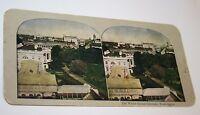Vintage Original 1900's The White House Grounds Washington D.C. Stereoview Rare