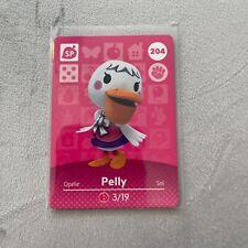 Pelly  #204 Animal Crossing Amiibo Card Authentic Mint Nintendo Series 3