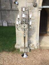 Giant 180cm Floor Standing Silver 9 Arm Candelabra/Wedding/Venue Decoration