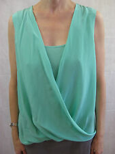 Saks Fifth Avenue BLACK Size 8 Turquoise and Grey Smart Casual Dress