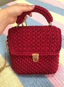 handmade red bag women