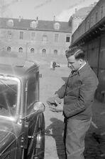 Negativ-Darmstadt-Hessen-Gebäude-BMW-PKW-KFZ-Fahrzeug-1930er Jahre-4