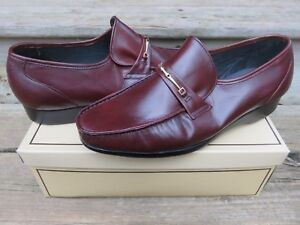 NEW Hanover Slip-on Loafer Dress Shoes Brown Size 10 D/B New Old Stock