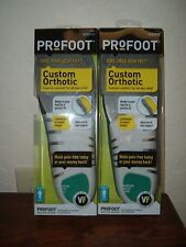 Two Pairs Mens Profoot Lightweight Flexible Shell Custom Insoles Size 8-13 #2007