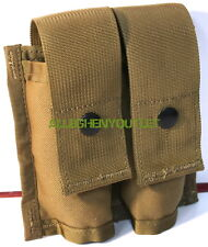 USGI MILITARY MOLLE II 40MM PYROTECHNIC DOUBLE POUCH USMC Coyote Brown NEW