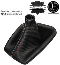 GREY STITCH CARBON FIBRE LOOK GEAR GAITER FITS BMW E90 E91 E92 E93 M/// STITCH