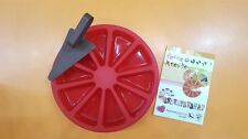 Guardini Stampo Tortiera In Puro Silicone 10 Porzioni Paletta Con Manico Rossa