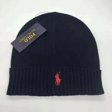 Polo Ralph Lauren Beanie Cap Hat Blue Red Free Post One Size Brand New ON SALE