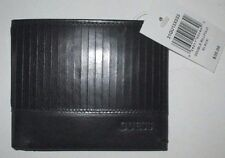 MENS GUESS BIFOLD DOUBLE BILLFOLD BLACK GENUINE LEATHER WALLET