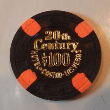 20TH CENTURY 1ST EDITION $100 CASINO CHIP 1977-1978