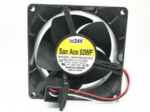 Fanuc Fan A90L-0001-0577 Sanyo 9WF0924H203 9232 92mm DC 24V 0.35A
