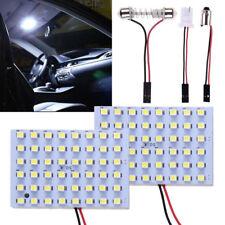 2x Kit Car 48SMD LED Panel Light T10 Festoon BA9S Dome Interior Bulb Adapter 12V
