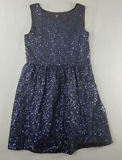 Gap Kids 8 Dress Navy Sequin Sparkle Holiday Party Girls kfp1