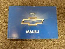 2002 Chevy Malibu Sedan Owner Owner's Manual User Guide Book 1LS 3.1L V6