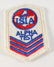 Vintage Ice Skating Institute of America ISIA Alpha Test Twill Embroidered Patch