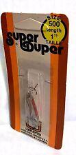"Luhr-Jensen Vintage Super Duper Chrome/ Red (Size 500 - 1"" long) Fishing Lure"