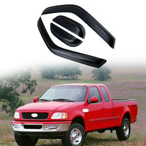 For Ford F-150 Extended Cab 1997-03 Window Visor Vent Rain Guard Sun Shade