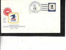 Fdc #1396 Usps Emblem Freeport Me Jul 1 1971 U.S.Mail Eagle Cachet Superior Cond