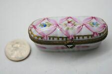 Vintage Limoges France Miniture Floral Trinket Box D1