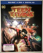 Teen Titans: The Judas Contract (Blu-ray+Dvd, 2 Disc Set) Brand New