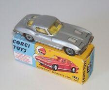 CORGI 310 RARE SILVER CHEVROLET CORVETTE STING RAY  GOOD CONDITION + DISPLAY BOX