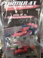 LOTUS 78 1977 GUNNAR NILSSON  FORMULA 1 AUTO COLLECTION #193 - MOC