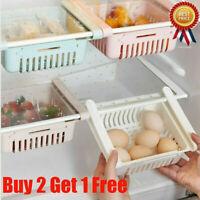 Space Saver Fridge Freezer Cupboard Kitchen Organizer Storage Rack Shelf Holder