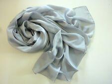 Chiffon Stola Schal Hijab Bolero Abendkleid Tuch Hochzeit Seide Grau 90x180