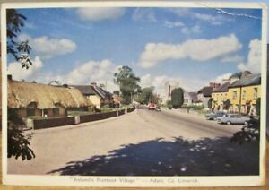 Irish Postcard ADARE LIMERICK Ireland's Prettiest Village Cardall 1980 to USA