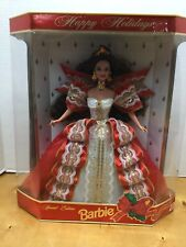 1997 Holiday Barbie 10th Anniversary Special Edition Mattel Red Dress New In Box