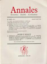 Annales Economies Sociétés Civilisations Juil/Aout 1974  Pelet-Bouvir-Chartier