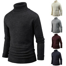 New Mens Mixed Turtleneck Sweater Polo Knit Pullover T-Shirts Jumper M027 S/M